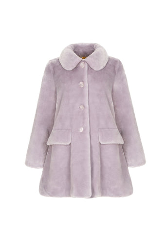 Pyrus coat - Lilac, shrimps