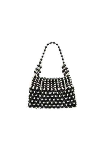 Quinn Bag - Black and Cream, shrimps