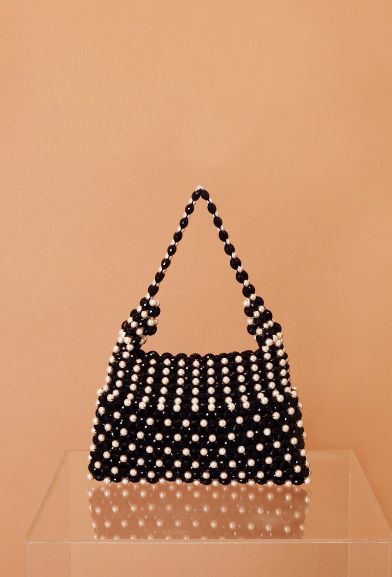 Quinn Bag - Black and Cream