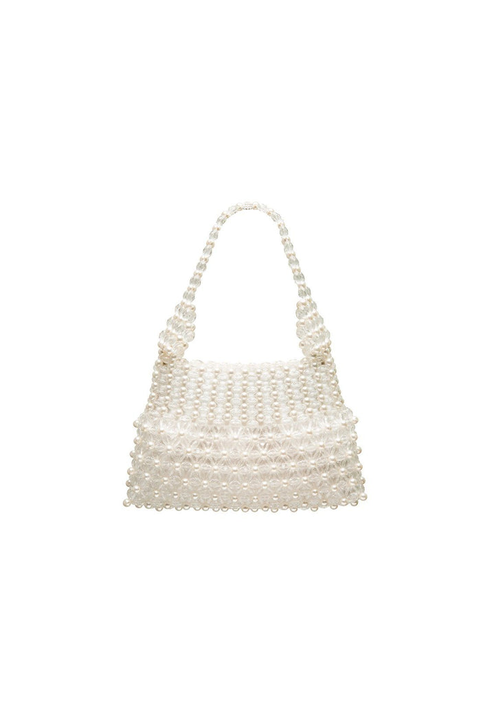 Quinn Bag - Cream and Clear, shrimps