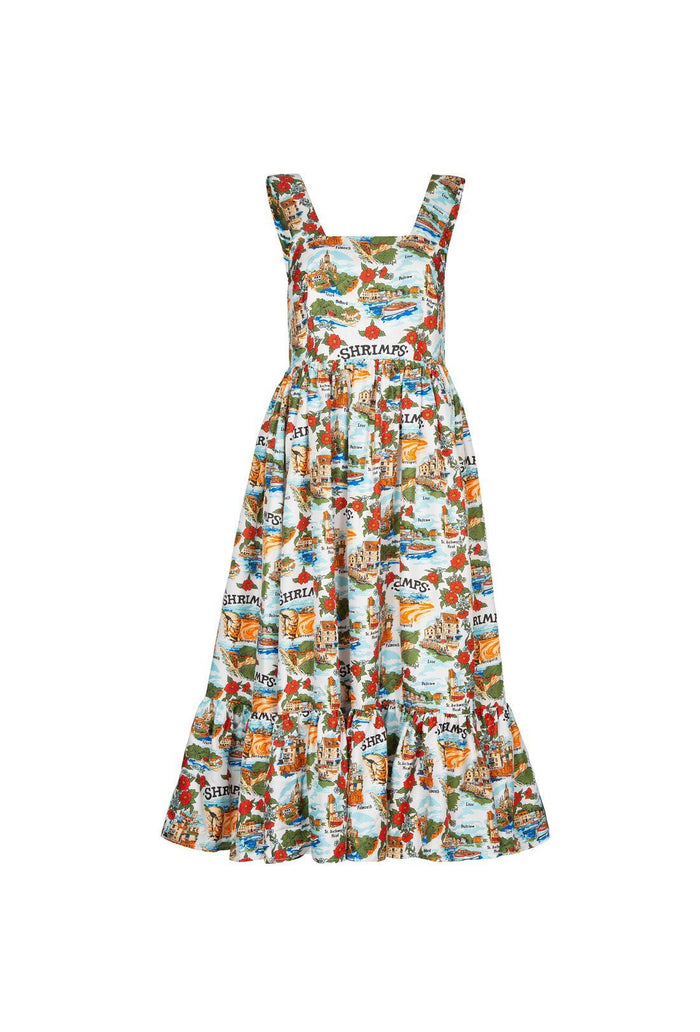 Riviera dress, shrimps