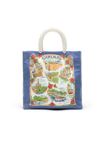 Riviera Tote Bag, shrimps