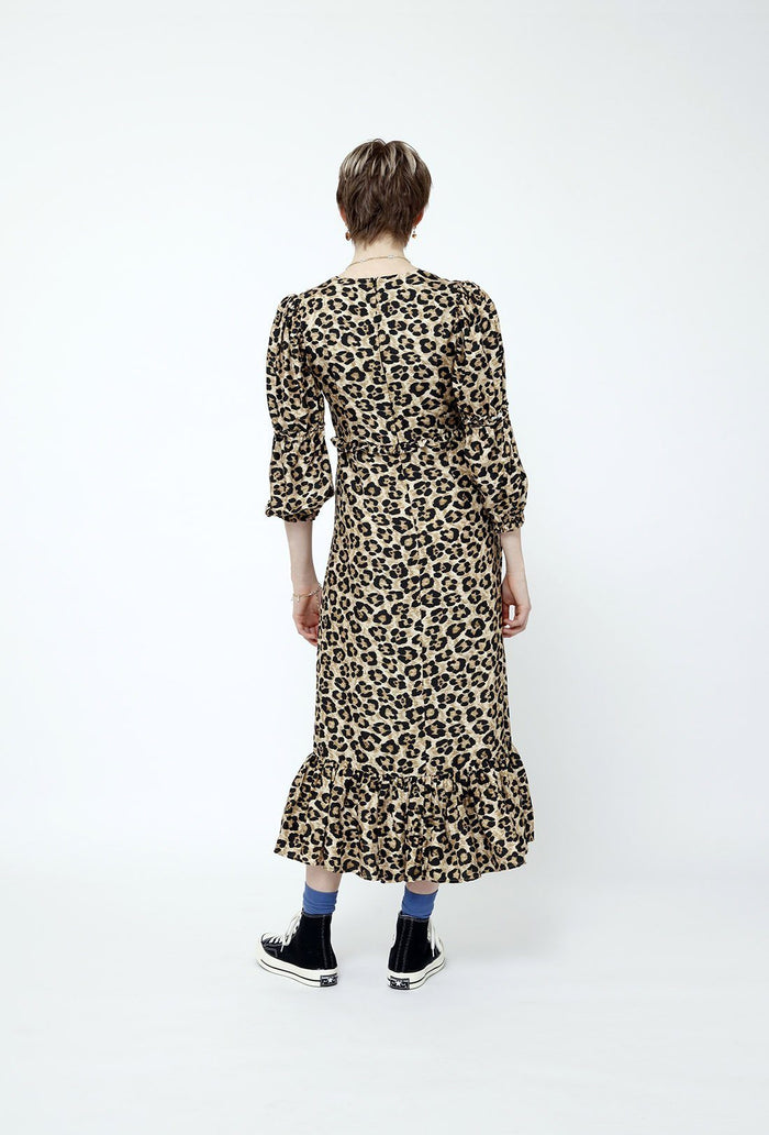 Rosemary dress - Leopard, shrimps