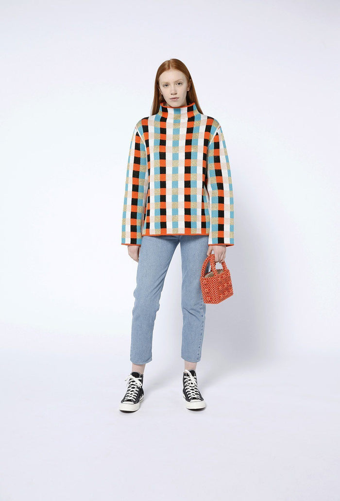 Sebastian jumper - Multi Check, shrimps