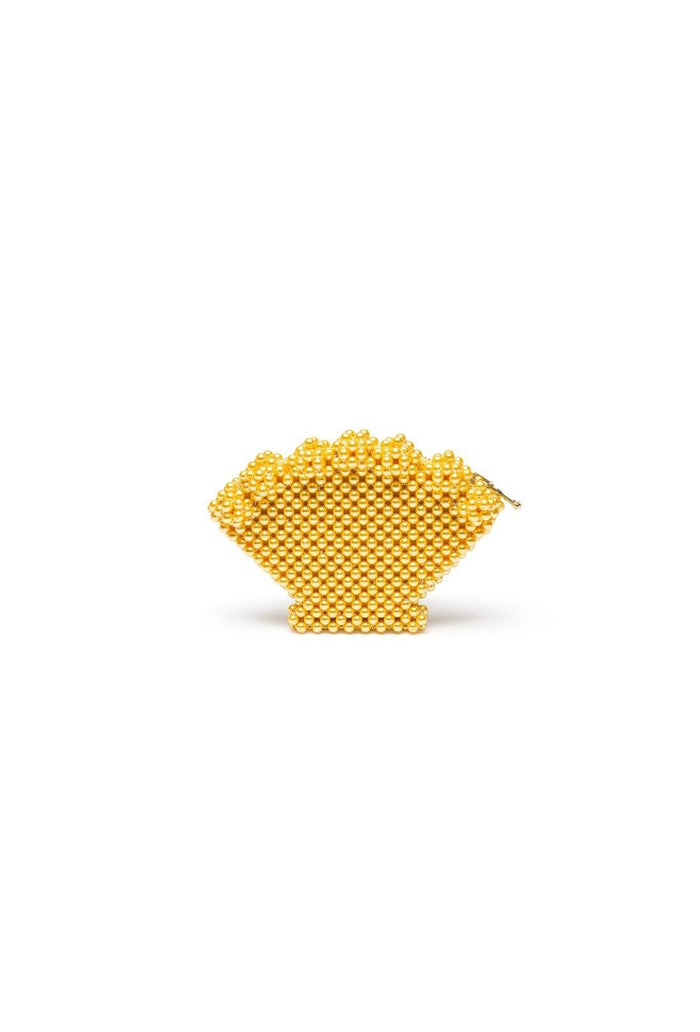 Shell purse - Yellow, shrimps