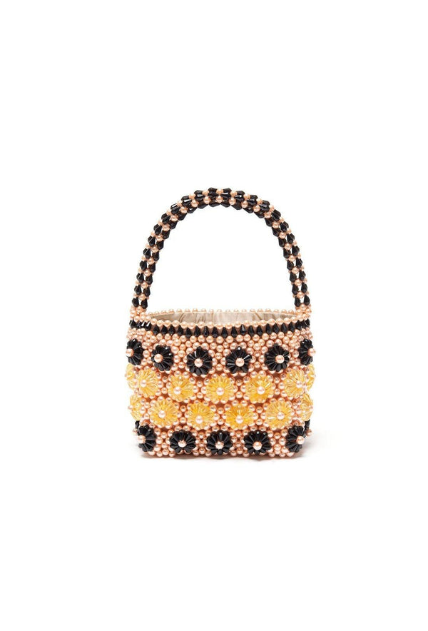 Shelly Bag - Apricot and Black