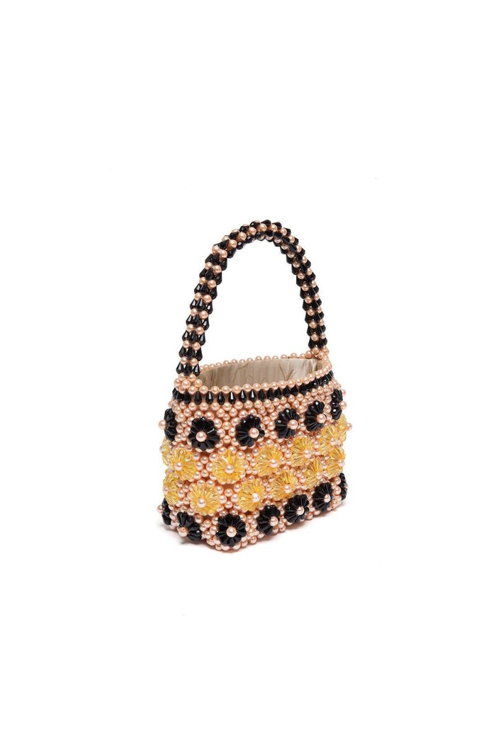 Shelly Bag - Apricot and Black, shrimps