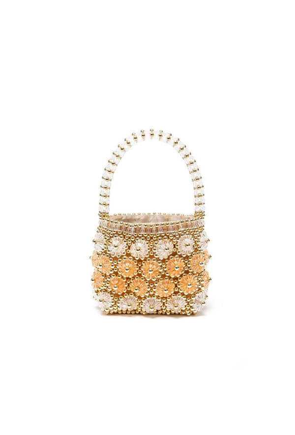 Shelly Bag - Gold and Apricot
