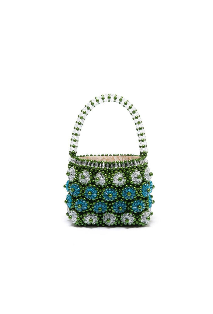Shelly Bag - Khaki and Turquoise, shrimps