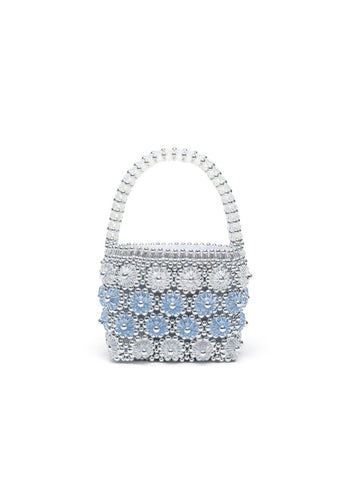 Shelly bag - Silver, shrimps