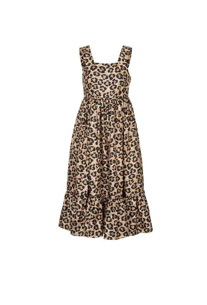 Sylvia dress - Leopard, shrimps
