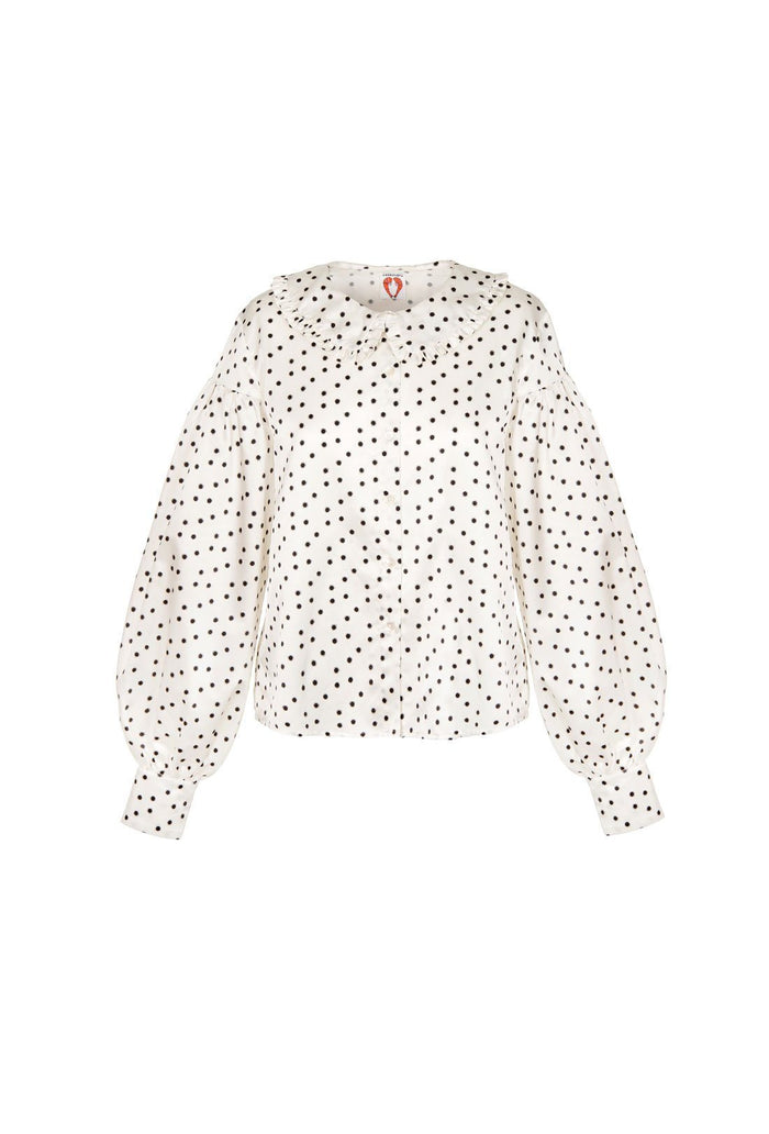 Vashti Blouse - Cream, shrimps