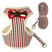 Load image into Gallery viewer, Stripes Bow Tie Harness