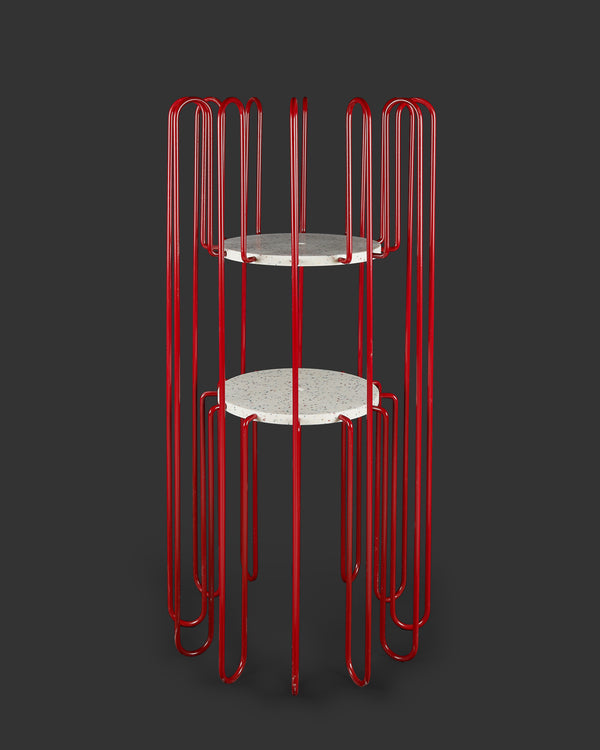 Rad Plant Stand Large Red-Speckle