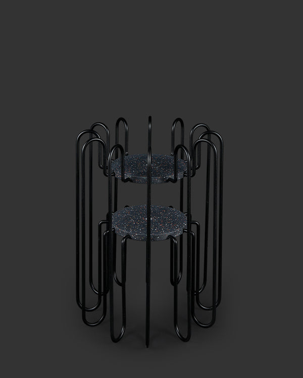 Rad Plant Stand Small Black-Mixed