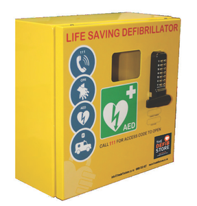 Outdoor Defibrillator Cabinet With Combination Lock