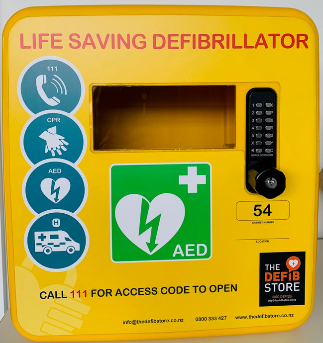 ** Brand New for 2021-Polycarbonate Defibrillator Cabinet With Key Override