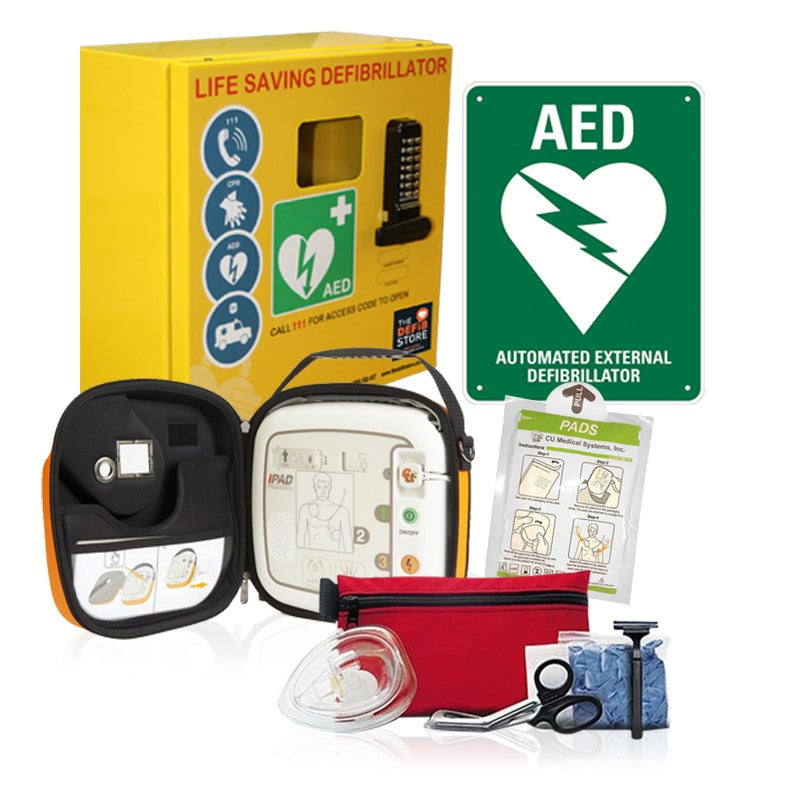 Corporate & Community Defibrillator & Cabinet Package