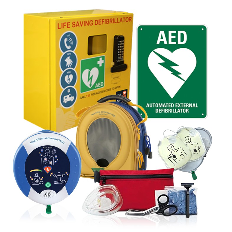 Industrial Defib Package With Outdoor Cabinet