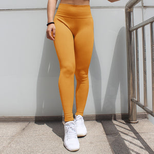 Citrus Orange High Waisted Leggings