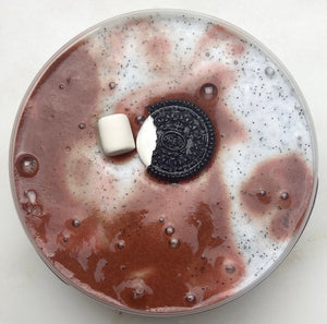 Frozen Oreo Hot Cocoa Slime