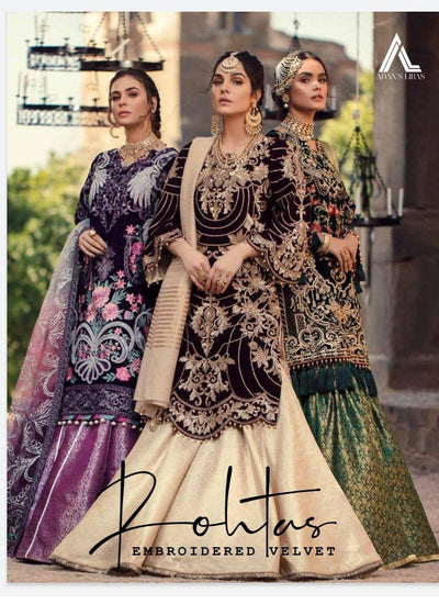 Adan's Libas Rohtas Embroidered Velvet Collection