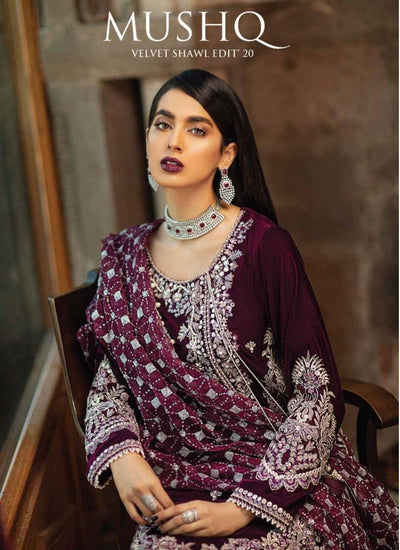 Mushq Velvet Collection Winter Sky