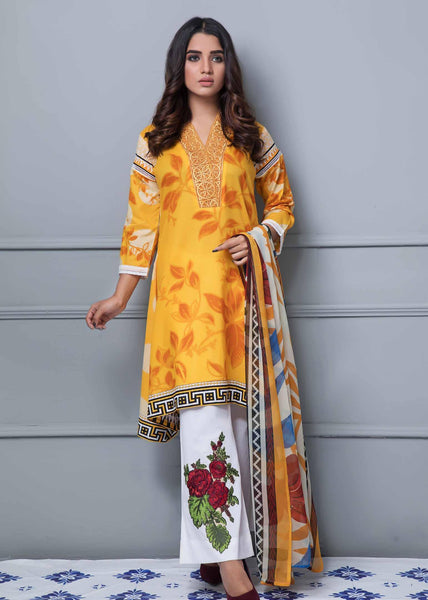 Rang Rez Designer Lawn Collection Vol-2 2019 – Design 07