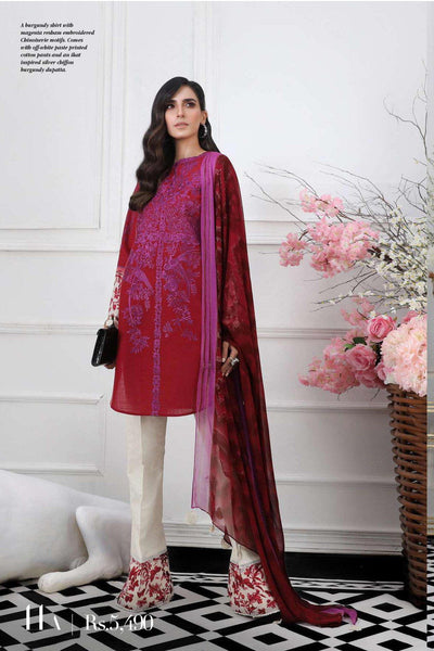 Sana Safinaz Pre-Fall Embroidered Collection 2019 – 11A
