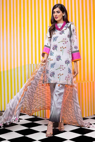 Gul Ahmed Cambric Collection 2019 – 3 PC Schiffli Embroidered Cambric – CBE-108