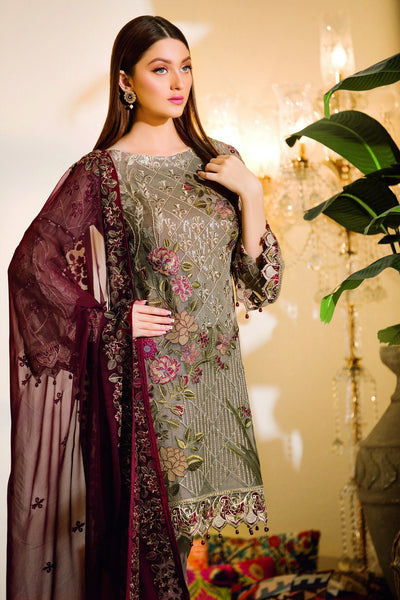 Ramsha Chevron Chiffon Collection 2019 – A-106