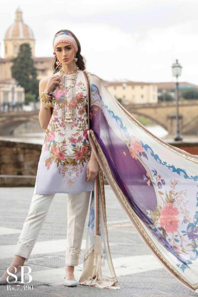 Sana Safinaz Luxury Lawn Collection– 8B - Mazzo