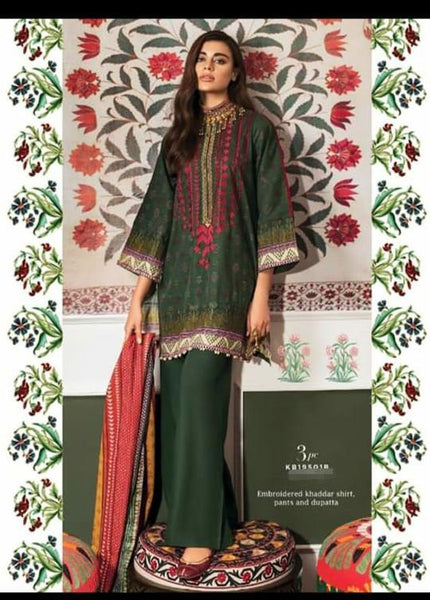 Khaadi Winter Vibe Collection/KB19501B/3Pc