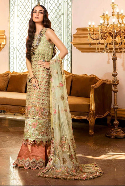 Saadia Asad Noor Wedding Festive Embroidered Collection/D1-Irini - AWWALBOUTIQUE
