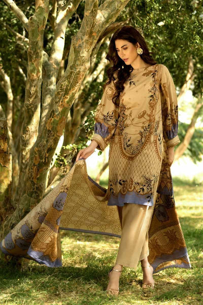 Gul Ahmed Malmal Collection Vol-2 – Brown CL-540 B