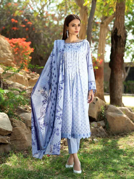 Gul Ahmed Malmal Collection Vol-2 2019 – Lilac CL-533 A