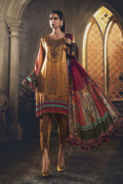 Maria B Silk Collection/MSK-408-Mustard