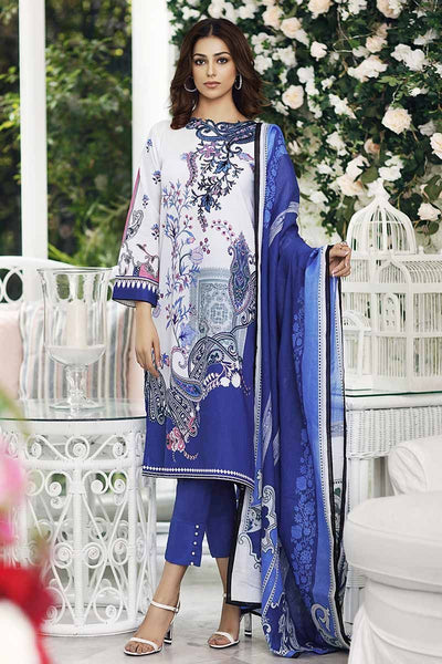 Gul Ahmed Cambric Collection 2019 – 3 PC Embroidered Cambric – CBE-79