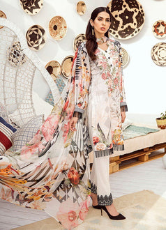 Iznik Chinon Lawn|Vol 3|ICL -10 WHISPER WHITE (3PC)