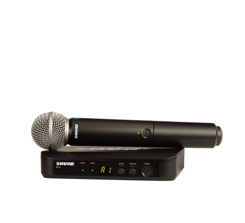 BLX24/SM58 - Handheld system with BLX2/SM58 handheld transmitter with SM58 cardioid microphone