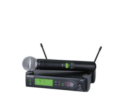 SLX24/SM58- - Wireless System with SLX2/SM58 Handheld Transmitter