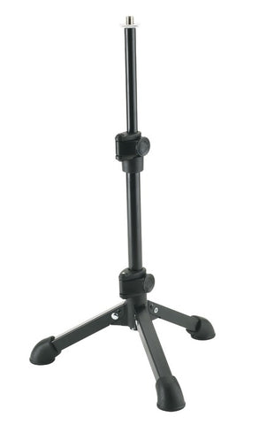 steel table microphone stand with square tube legs