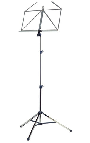 3-piece, folding, steel music stand and extra wide music desk