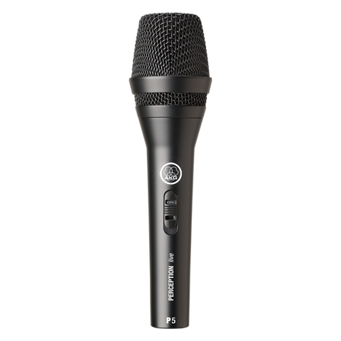 AKG P5S - High-performance dynamic vocal microphone with on/off switch