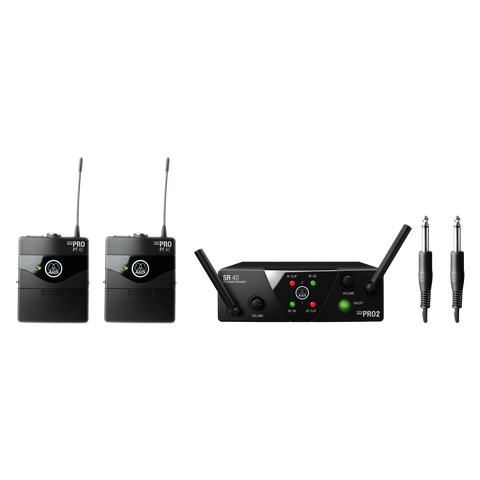 AKG WMS40MINI2 - Wireless microphone system for Dual Instrumental Set (FREQ: A/C)
