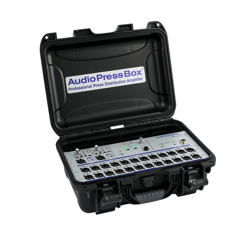 AudioPressBox APB-224 C - 24 LINE/MIC Outputs, internal AccuPack 10 hours