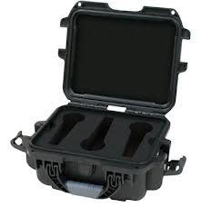 Black waterproof injection molded case