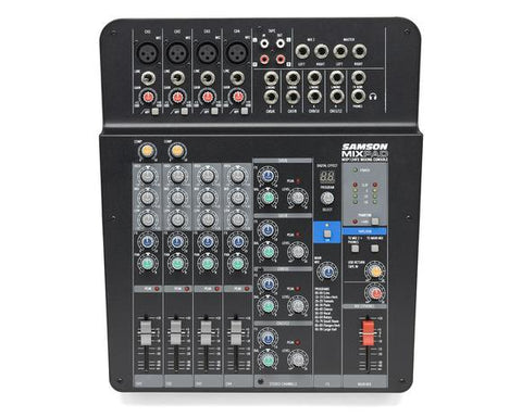 MixPad® MXP124FX - 12-Input Analog Stereo Mixer with Effects and USB