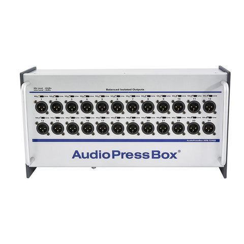 AudioPressBox APB-124 SB - 1x MIC/LINE In, 24 Line/MIC Out, Input Link, internal AccuPack 8 hours