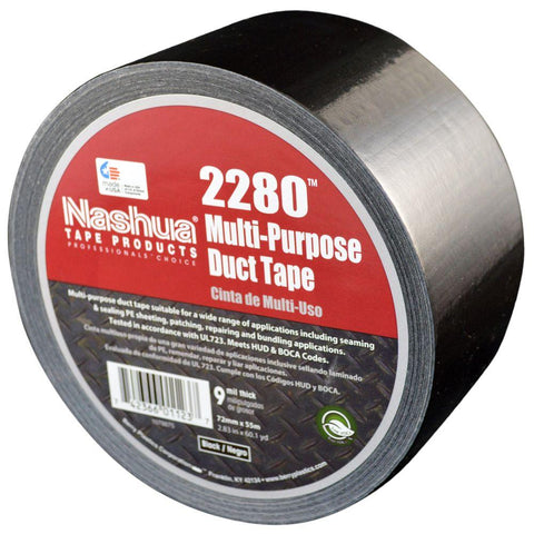"Multi-Purpose 4"" Duct Tape Black (180')"